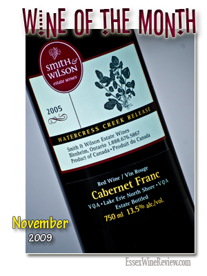 October 2009 - Wine of The Month, Smith & Wilson Cabernet Franc 2005