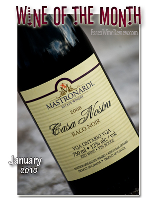Essex Wine Review - Wine of the Month, January 2009