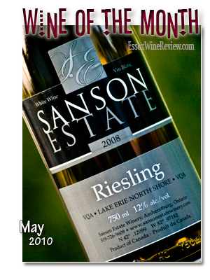 May 2010 - Wine of The Month, Sanson Estate Riesling 2008