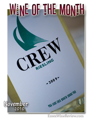 November 2010 - Wine of The Month, CREW Riesling 2009