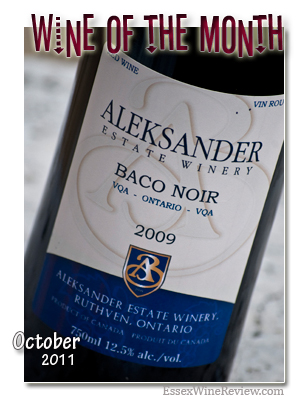 Essex Wine Review - Wine of the Month, October 2011